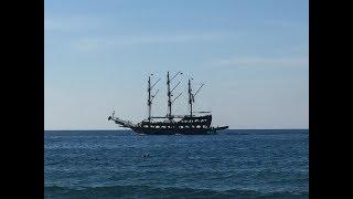 Море Пляж Завтрак Обзор Блюд Турецкой Кухни Bayar Garden Beach Hotel HV1 Konakli Alanya