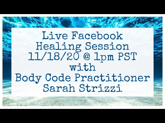 Live Facebook Healing Session with Sarah Strizzi