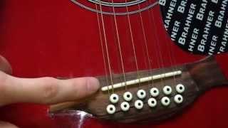 Ремонт 12-струнной гитары BRAHNER (Обзор До и После)