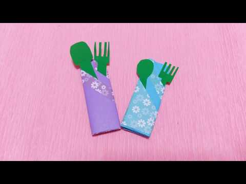 Easy Napkin Folding with Spoon and Fork | Beautiful DIY Ideas for Kids