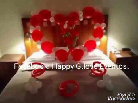Decoraci n de amor con globos youtube for Cuartos decorados romanticos con globos