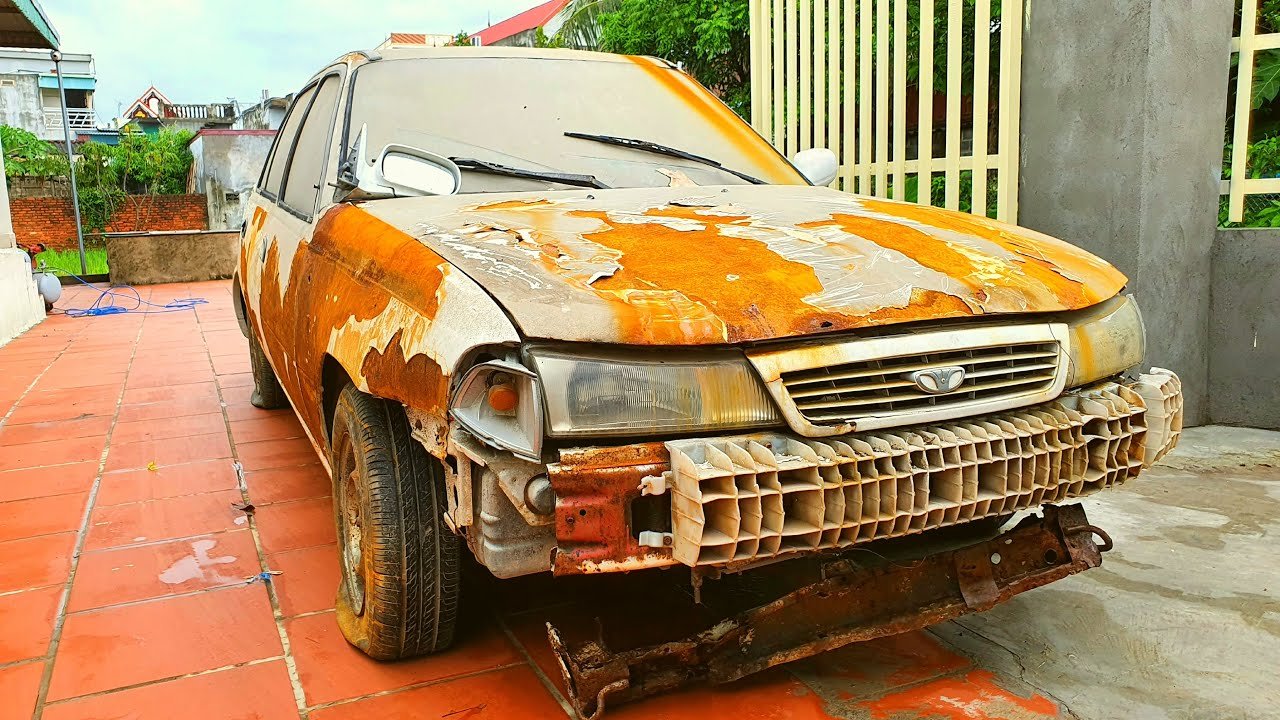 Restoration Car DAEWOO Cielo 1.5 MT very rusty | Restore abandoned old car 1993