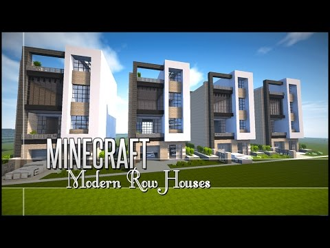 Minecraft Let's Build - Modern Row/Town Houses +Download