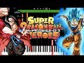 Download Goku SSJB Vs Xeno Goku SSJ4 Theme EP1 - Super Dragon Ball Heroes OST (Piano Tutorial) [Synthesia]