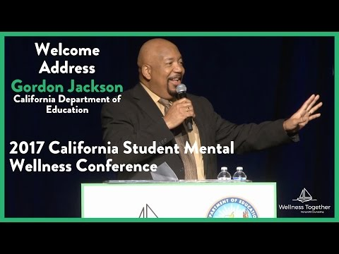 Gordon Jackson at the 2017 California Student Mental Wellness Conference