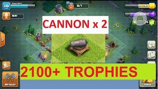 Clash Of Clans💥Builder Base Level 3 Hall 💥 Updated 2 CANNONS 💥 Replays bh3 💥 New Double CANNON