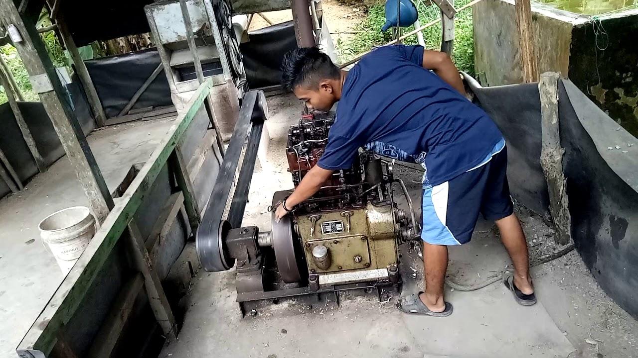 Tutorial cara menghidupkan mesin diesel 2 silinder - YouTube