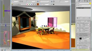 3dsMAX Урок 18. Вставка источников света, визуализация.