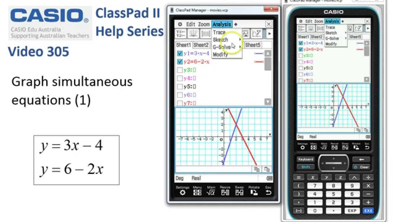 how to solve system of equations on casio calculator
