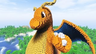 Minecraft vs Pokemon Go | GIGA Dragonite (Minecraft Pokemon World)