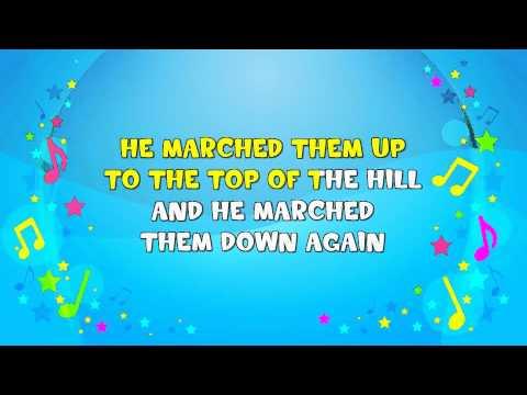 The Grand Old Duke of York | Sing A Long | Marching Song | Nursery Rhyme | KiddieOK
