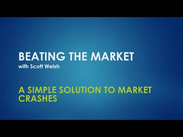 A Simple Solution To Market Crashes