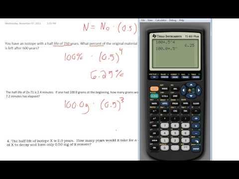 Half-Life Calculations