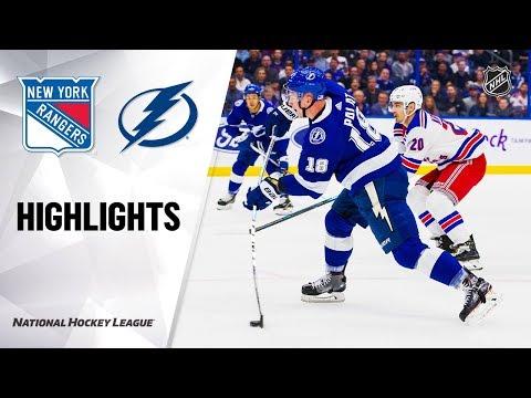 NHL Highlights | Rangers @ Lightning 11/14/19