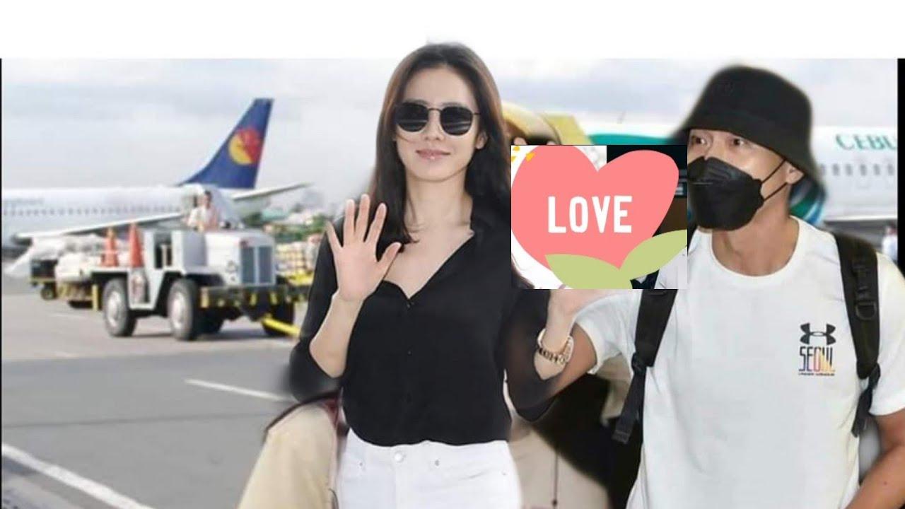 Hyun Bin and Son Ye Jin @ Airport - YouTube