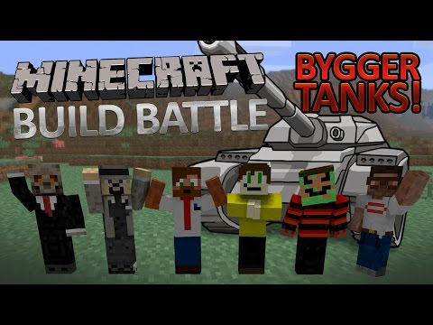 Minecraft Buildbattle - Youtubers Bygger Tanks