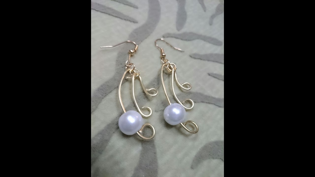 How To Make Wire Jewelry Ideas Pearl Simplicity Earrings Tutorial You