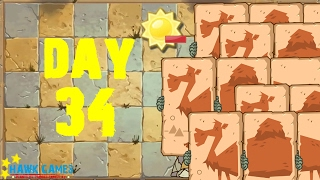 Plants vs Zombies 2 - Ancient Egypt - Day 34 [Spend no more than 1800 Sun] No Premium