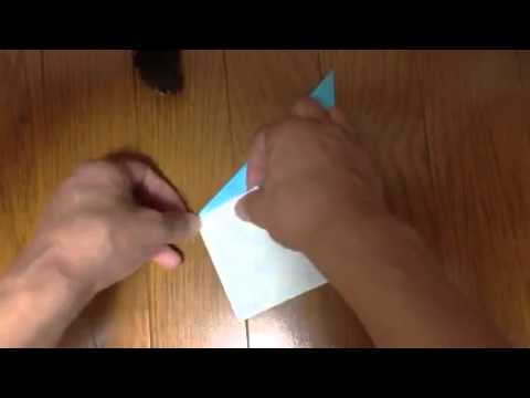 How to make a origami Raindrop