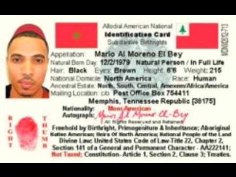 Moors - Indigenous Nationality Identification Card - Through RVBeyPublications (Part-1) !