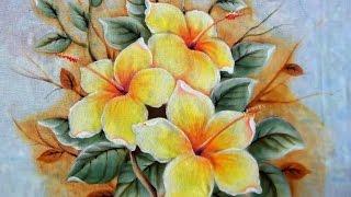 Como Pintar: Hibiscos Amarelos