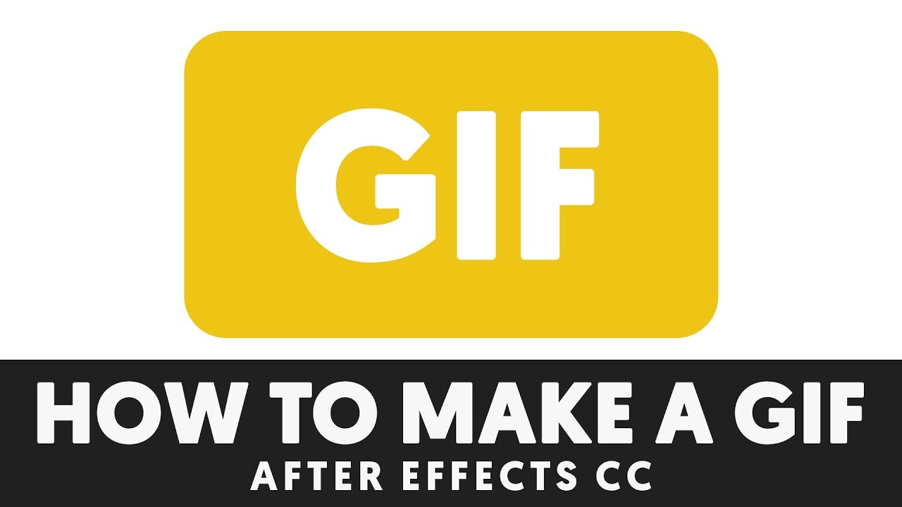 How to EXPORT a GIF in After Effects Tutorial - T032