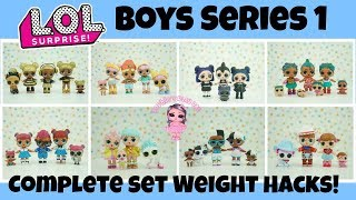 LOL Surprise Boys Series 1 Complete Set with Weight Hacks + Complete Families Series 1,2,3