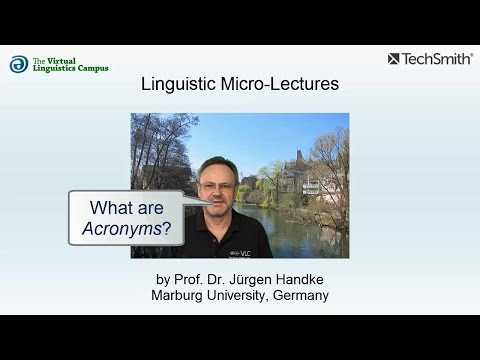 Linguistic Micro-Lectures: Acronyms