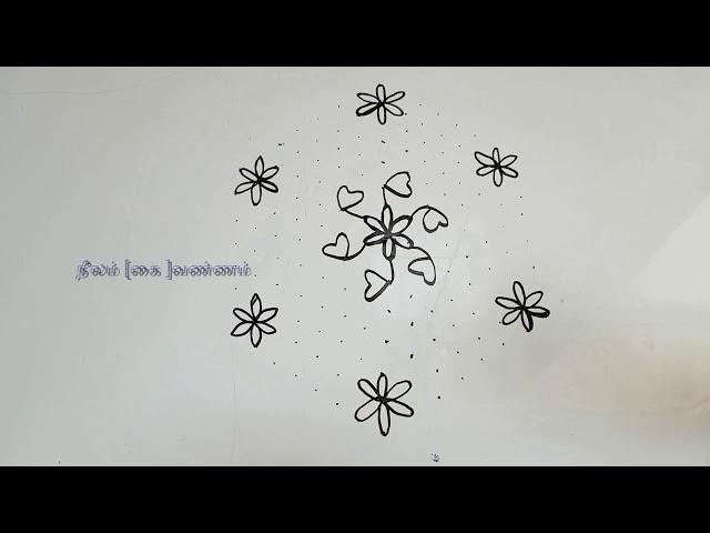 Kolama/Pulli Kolam/Rangoli Design
