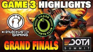 INVICTUS GAMING VS CHAOS GAME 3 Dota Summit 11 Grand Finals