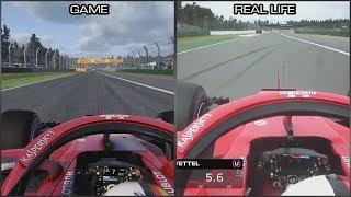 F1 2018 vs Real Life - Hockenheimring Onboard Lap Comparison