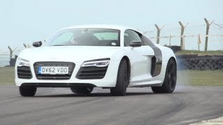 Audi R8 V10 Plus, Porsche 911 Turbo S, Litchfield GT-R. Track, Drag-Race - /CHRIS HARRIS ON CARS