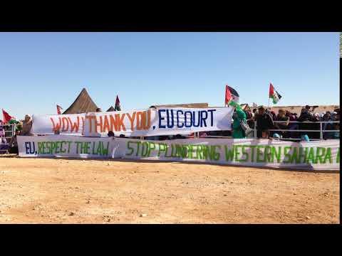 Saharawis celebrate EU Court ruling on Western Sahara, 27 Feb 2018
