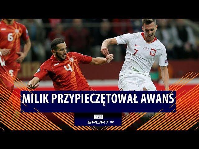 Jedziemy na Euro 2020! Zobacz trafienie Arkadiusza Milika   Polska – Macedonia Płn. 2:0