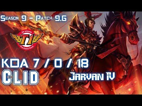 SKT Clid JARVAN IV vs REK'SAI Jungle - Patch 9.6 KR Ranked