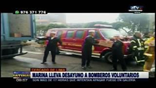 ATV+:Marina lleva ayuda a los bomberos voluntarios