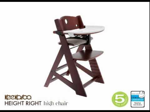 keekaroo high chair folding heavy duty height right youtube