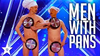 Men with Pans SHOCK the Audience | America's Got Talent 2017 thumbnail