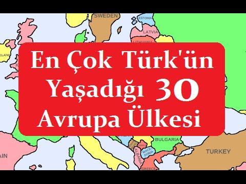 Avrupa'da Yaşayan Türklerin Nüfusu, Ülkelere Göre Sayısı