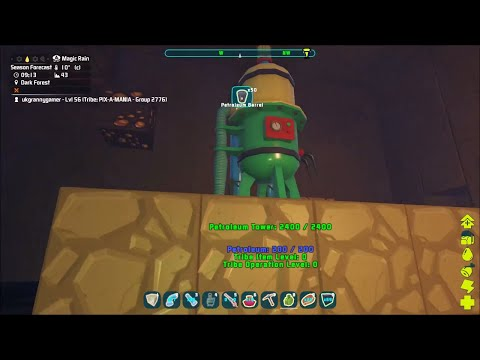 Petroleum pump Tower and pipes, PixARK series 1 episode 23.