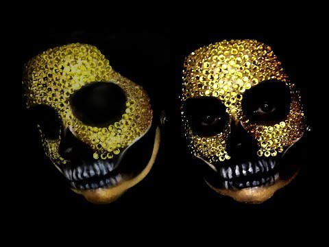 GOLD DIAMOND SKULL l Halloween makeup ideas thumbnail