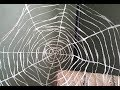How to make a Spider Web Halloween Decoration from Plastic Bags
