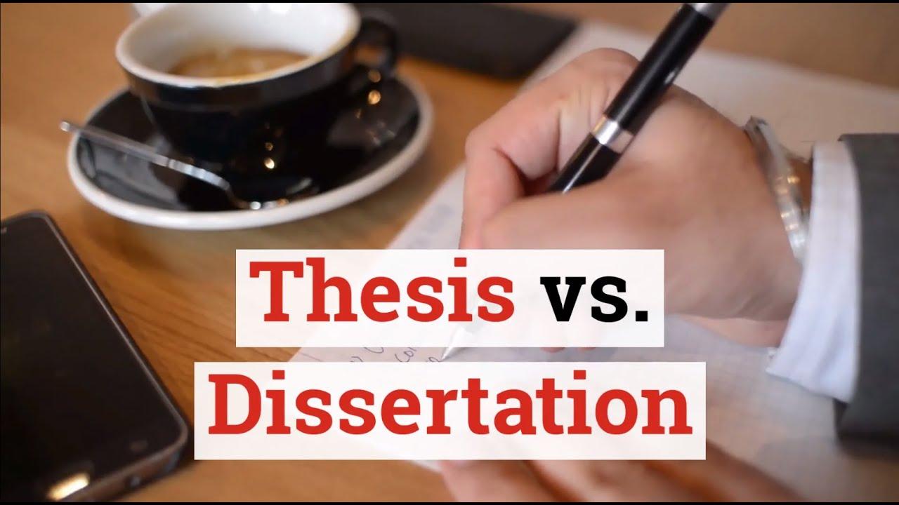 Thesis vs dissertation length