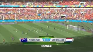 Australia - Netherlands Robben's goal and Cahill's AMAZING VOLLEY GOAL thumbnail