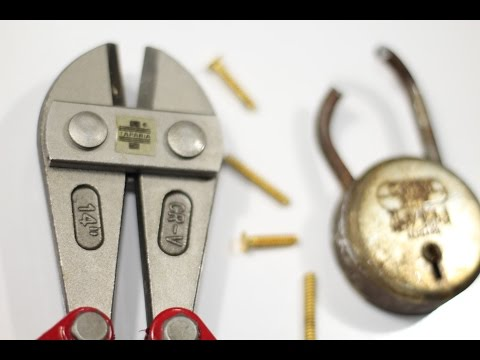 How to use a Bolt Cutter (Basics) to cut a Padlock & Bolts