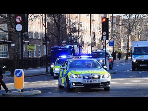 Police escort high security prisoner van through London