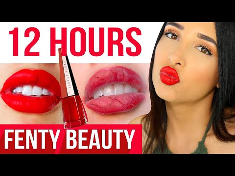 IS IT AWFUL?? HONEST Fenty STUNNA Lip 12 HOUR WEAR TEST & Review 💄 | Mar