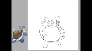 How to draw Blastoise