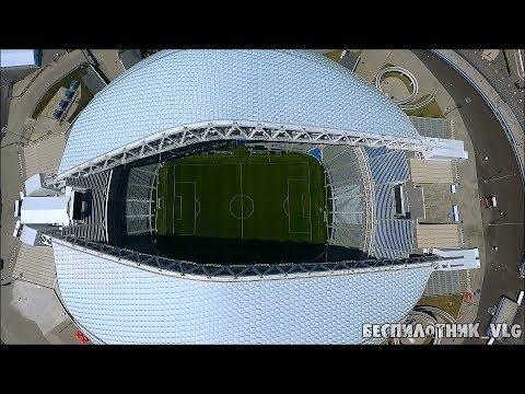 Стадион Фишт и Сочи парк. С высоты птичьего полета.