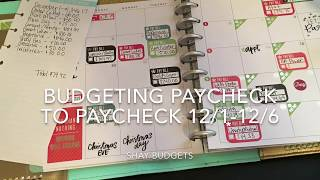 Budgeting Paycheck To Paycheck- Dec 1-Dec 6 | Happy Planner Budget Extension Pack